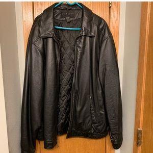 Men's Croft & Barrow Black Leather Jacket XXLT